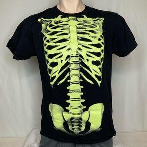 Jerzees size L tee skeleton glow in dark tee